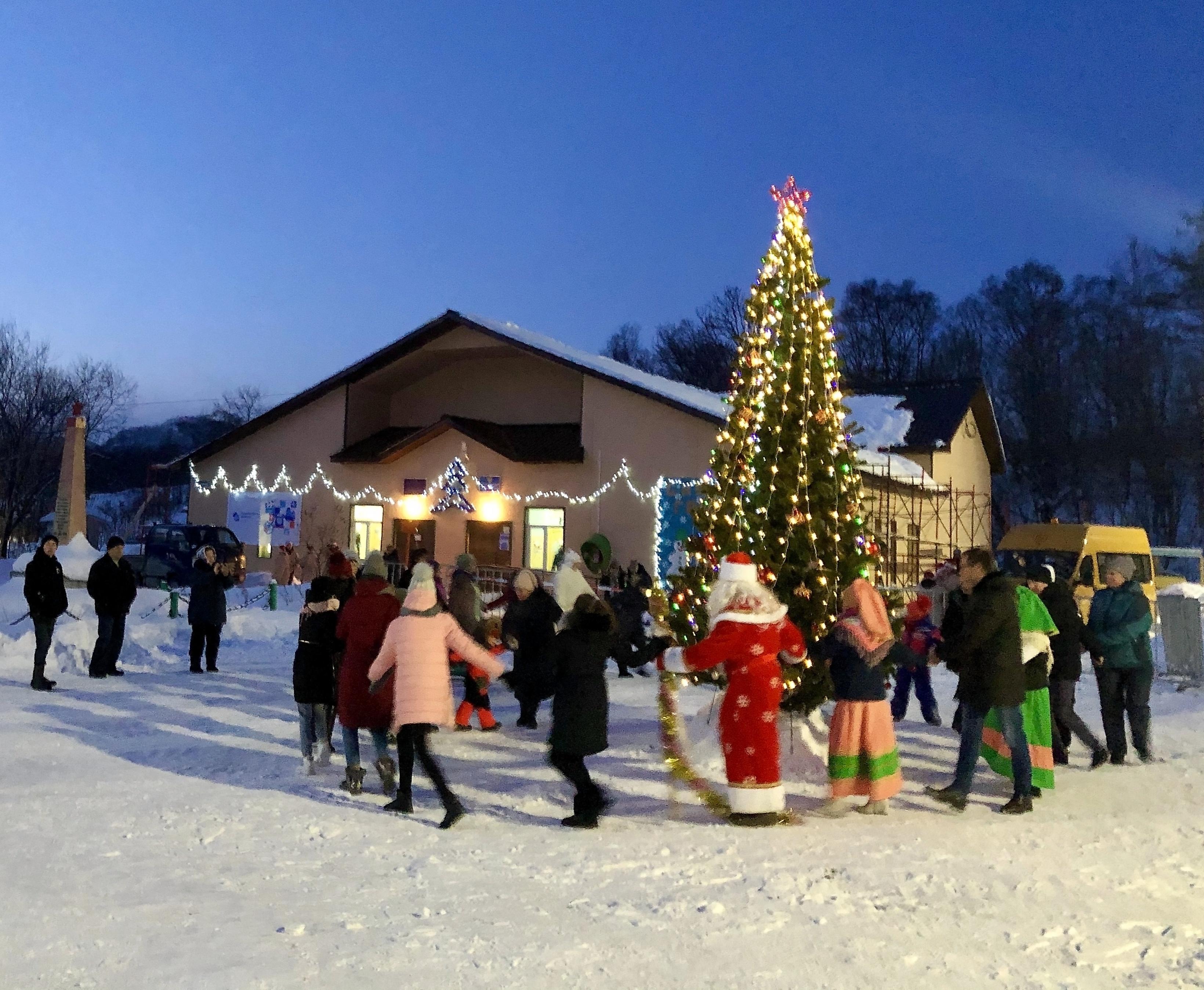 В Петропавловском состоялась церемония открытия новогодней ёлки